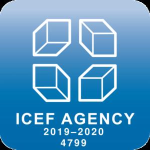 Keelekohver OÜ ICEF agendi ID logo